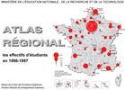 Atlas régional : les effectifs d'étudiants en 1996-1997