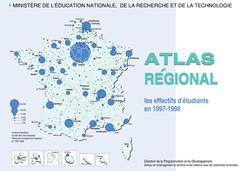 Atlas régional : les effectifs d'étudiants en 1997-1998