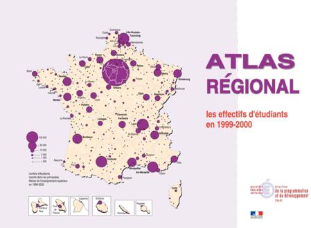 Atlas régional les effectifs d'étudiants en 1999-2000