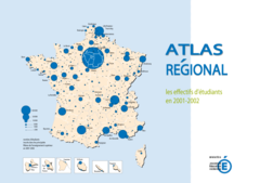 Atlas régional les effectifs d'étudiants en 2001-2002