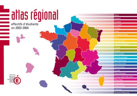 Atlas régional les effectifs d'étudiants en 2003-2004