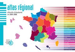 Atlas régional : les effectifs d'étudiants en 2005-2006