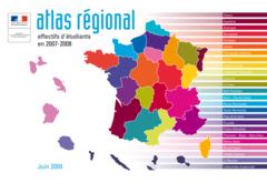 Atlas régional : les effectifs d'étudiants en 2007-2008 - édition 2009