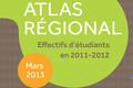 Atlas régional : les effectifs d'étudiants en 2011-2012 - édition 2013