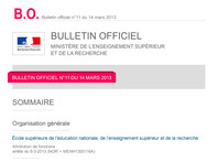 Bulletin Officiel du M.E.S.R.