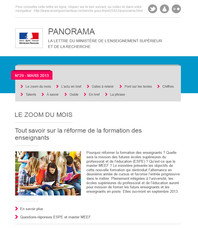 Lettre d'information Panorama