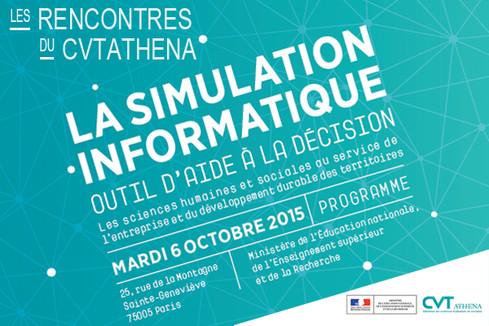 Rencontres du CVT Athéna : la simulation comme outil d'aide à la décision