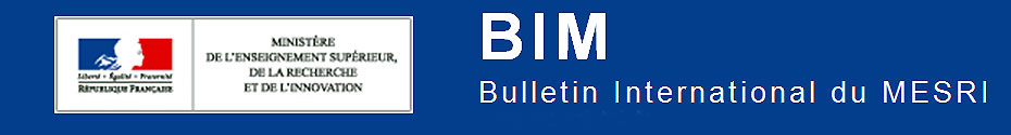 BIM : Bulletin interantional du MESRI