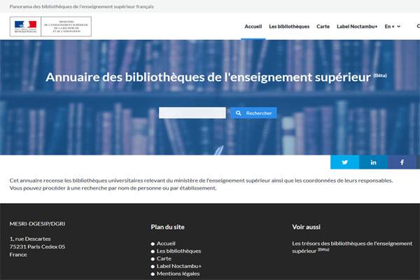 9a83bf57245 Publication de l annuaire des Bibliothèques universitaires - Ministère de  l Enseignement supérieur