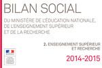 Bilan social 2014-2015 : partie 2. L'enseignement supérieur et la recherche