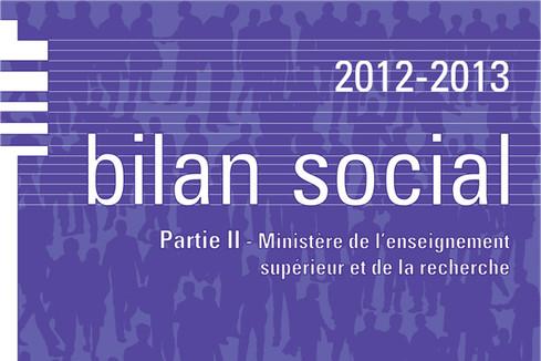 Bilan social 2012-2013 – Partie 2 Enseignement supérieur et recherche
