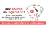 Dossier social étudiant 2016-2017 : la procédure unique de demande de bourse et de logement