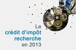 Le crédit d'impôt recherche en 2013