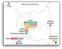 Localisation des projets Investissements d'Avenir Equipex 1ère vague