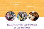 Egalité entre les Femmes et les Hommes : plan d'action du M.E.S.R.