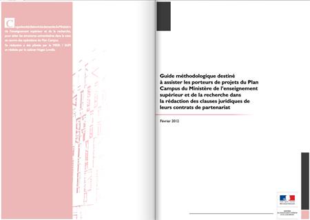Guide méthodologique Plan Campus-  clauses juridiques contrats de partenariat