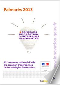 Palmarès 2013 du concours de  création d'entreprises de technologies innovantes
