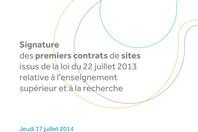Vignette dossier de presse : signature des premiers contrats de site