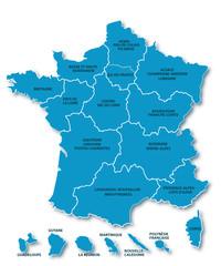Carte nouvelle région