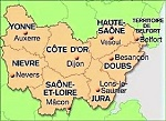 Carte BFC avec départements