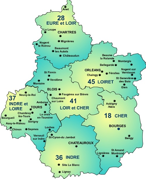 La région Centre-Val de Loire