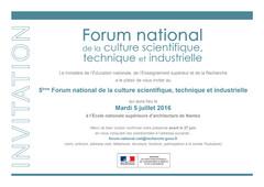 5e Forum de la CSTI