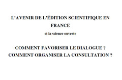 Avenir de l'édition scientifique en France