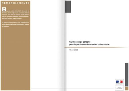 Guide Energie Carbone pour le patrimoine universitaire
