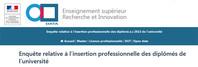 Plate forme Enquête relative à l'insertion professionnelle des diplômés de l'université