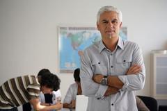 enseignant de face