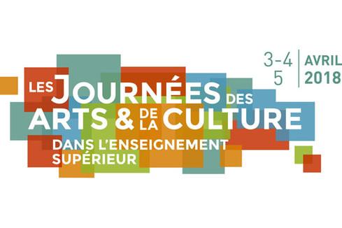 Journées des arts et de la culture dans l'enseignement supérieur : 3 au 5 avril 2018