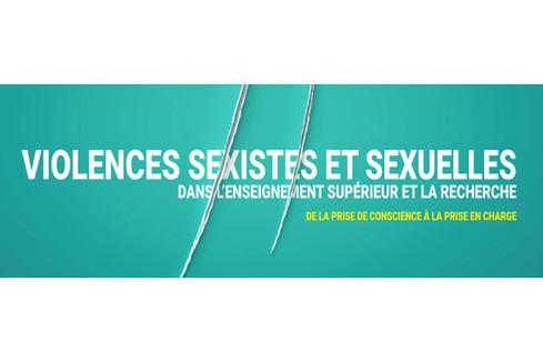 Colloque international « Violences sexistes et sexuelles dans l'ESR : de la prise de conscience à la prise en charge »