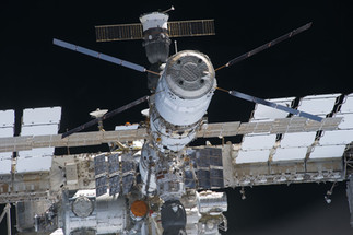 ISS vue depuis Discovery
