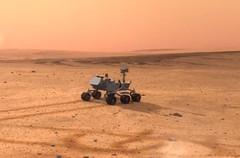Vue d'artiste de robot sur Mars