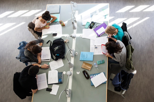 Étudiants qui révisent