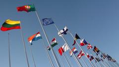 Drapeau européen et des états membres
