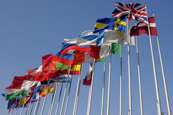 Europe drapeaux en berne