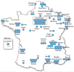 Localisation Carnot 2 en France