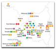 """Investissements d'Avenir, projets """"Laboratoires d'excellence"""" par région et domaine"""