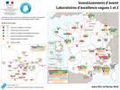 Localisation des projets Investissements d'Avenir Labex vague 2