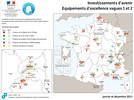 Localisation des projets Investissements d'Avenir Equipex vague 2
