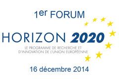 1er Forum H2020 - 16 décembre 2014