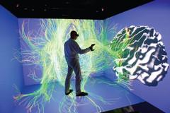 Cube immersif, déplacement virtuel au sein du cerveau