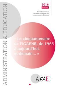 Cinquantenaire de l'I.G.A.E.N.R. (Hors série de la revue AFAE)