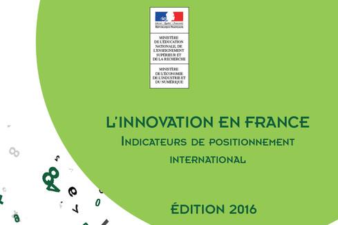 Publication du rapport : L'innovation en France, indicateurs de positionnement international