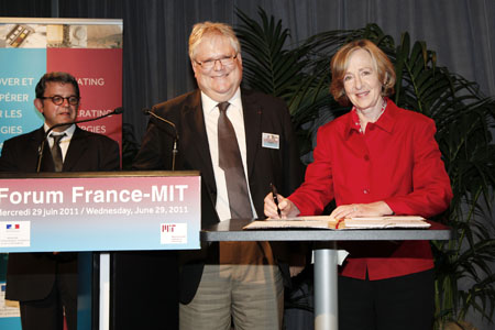 Forum France-MIT-Ronan Stephan, Alain Fuchs, Suzan Hockfiel