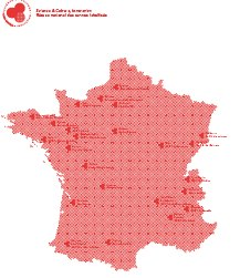 Carte : réseau national des centres SCI labellisés
