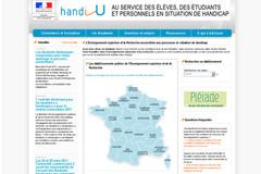 Page d'accueil du site Handi U