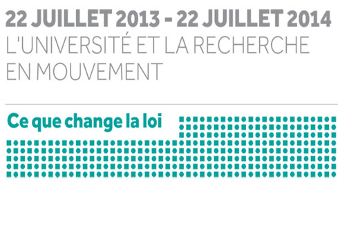 22 juilllet 2013 - 22 juillet 2014 : l'université et la recherche en mouvement