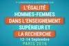 La France accueille du 12 au 14 septembre la 9e Conférence européenne sur l'égalité entre les femmes et les hommes dans l'enseignement supérieur et la recherche
